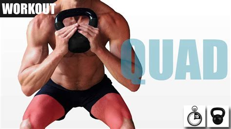 quad focused workout kettlebell