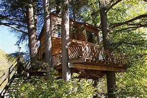 cabane dans les arbres ardeche ecovoyageurscom With chambre d hote cabane dans les arbres