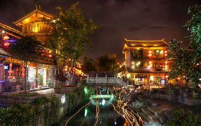 Night Ancient Lijiang Wallpapers Japan China Places