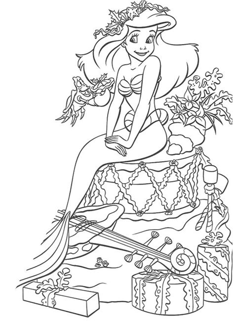 disney princess celebrate christmas day coloring pages