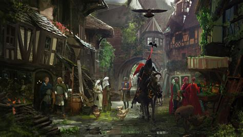 middle ages medieval town middle ages horse knight