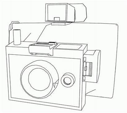Coloring Camera Polaroid Clip Library Clipart Template
