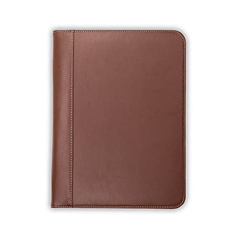 samsill contrast stitch leather padfolio lightweight