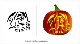 Skull Pumpkin Carving Templates Free by 10 Free Halloween Scary Pumpkin Carving Patterns Amp Stencils