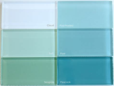 pale blue glass subway tile in vapor modwalls lush 4x12