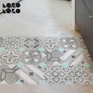 Mosaico de baldosas hidráulicas 4 Vinilo para suelos