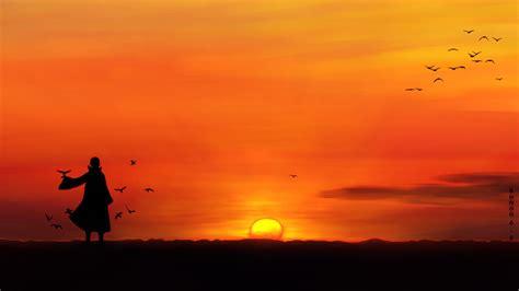 Anime Sunset Wallpaper - anime sunset scenery wallpaper hd desktop wallpaper