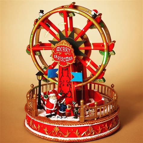 gerson electric lighted moving ferris wheel wmusic