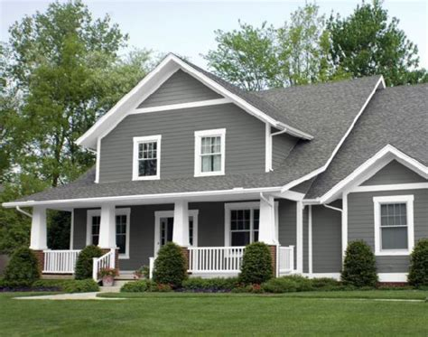 houses painted grey with white trim home painting