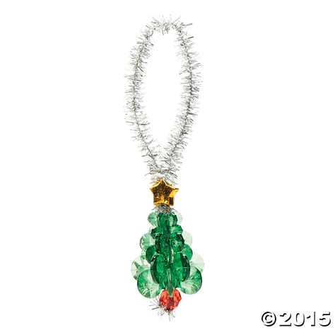 beaded tree christmas ornament craft kit 12 pk party