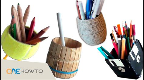 diy pencil holders crafts  waste material youtube