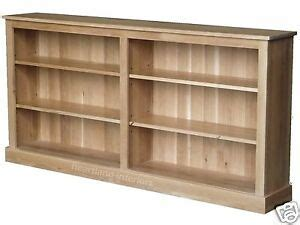 4 Ft Wide Bookshelf by Solid Oak Bookcase Low 6ft Wide Adjustable Display