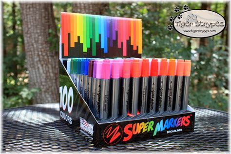 super markers twin tip marker set   art supply