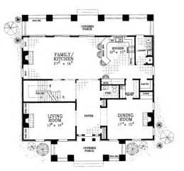 classical style house plan 4 beds 3 5 baths 4000 sq ft - Plantation House Floor Plans