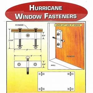 Hurricane Window Fasteners
