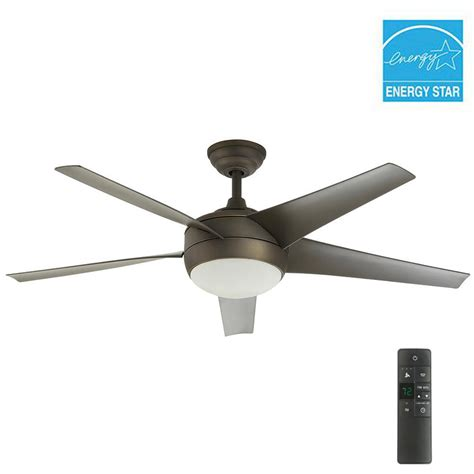 bronze ceiling fan with light and remote home decorators collection windward iv 52 in indoor oil