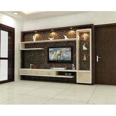 plywood wall mounted tv cabinet warranty  years rs