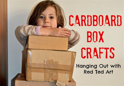 cardboard box craft ideas red ted art  crafting