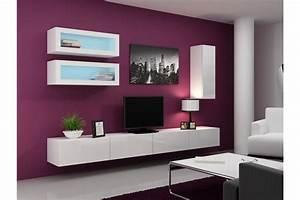 Meuble Sous Tv Suspendu : meuble tv design suspendu bino chloe design ~ Teatrodelosmanantiales.com Idées de Décoration