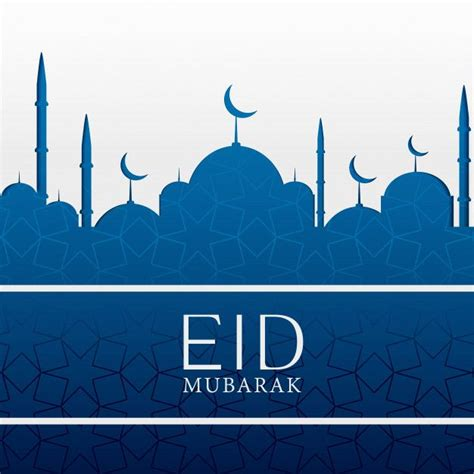 eid mubarak islamic background  blue mosque
