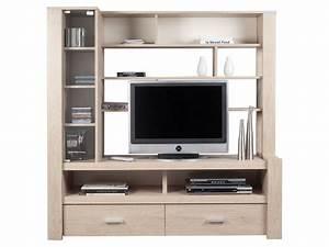 Meuble Tv Avec Etagere : charmant meuble de rangement bureau conforama 7 meuble tv haut conforama evtod ~ Teatrodelosmanantiales.com Idées de Décoration