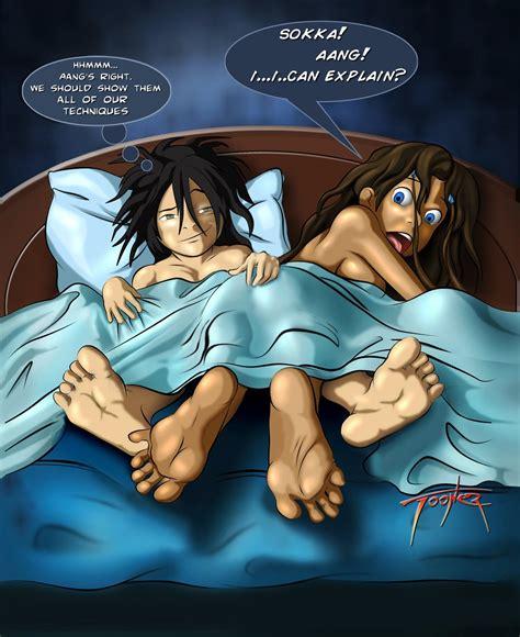 Rule 34 Avatar The Last Airbender Bed Black Hair Blue