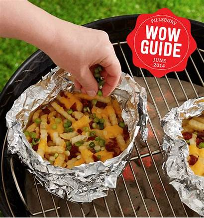 Dogs Grill Fries Recipes Grilling Foil Burgers