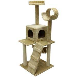 walmart cat furniture aleko 47 quot cat tree condo scratching post pet furniture