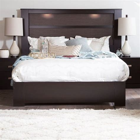King Size Headboard With Lights king size headboard with lights lighted bed bedroom
