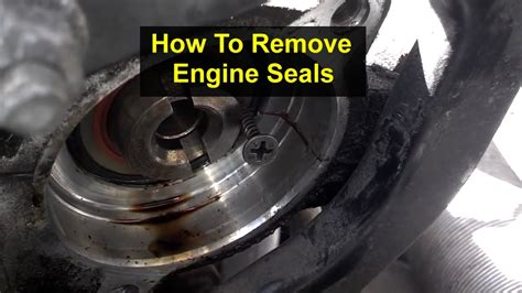 remove engine seals cam seals  votd youtube