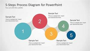 Awesome 5 Steps Process Diagram For Powerpoint
