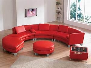 le canape d39angle arrondi comment choisir la meilleure With tapis oriental avec canapé en cuir rouge