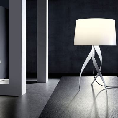 medusa white table l and shade imperial lighting