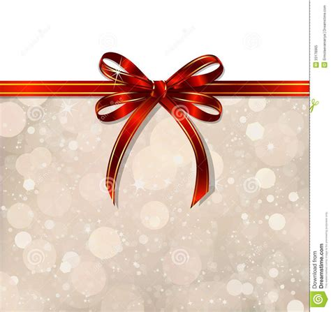 red bow   magical christmas background vector royalty
