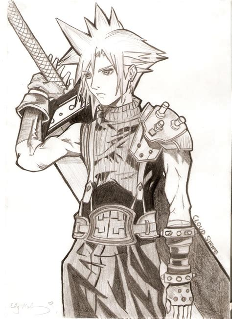 I just wanted a place to upload my everyday drawings. Cloud Strife by LizzieDoll on DeviantArt