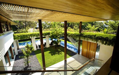 Courtyard Homes by Contemporary Courtyard House In Singapore Home Design