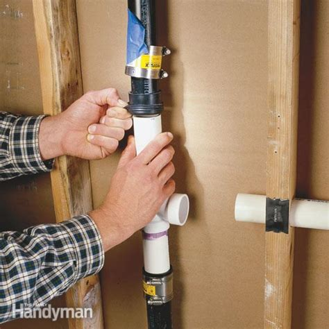 connect  pvc pipe  abs pipe  family handyman