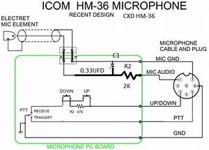 Icom Mic Wiring  Engine  Wiring Diagram Images