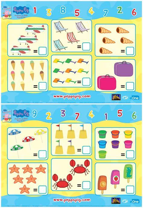 peppa pig printable math worksheets peppa pig party