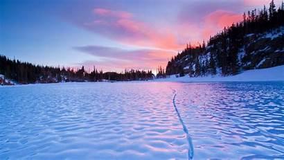 Winter Desktop Wallpapers Frozen Lake Pixelstalk Sunset