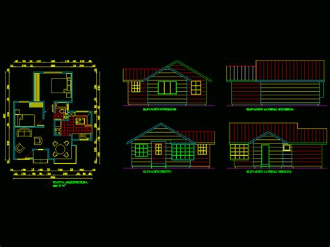 small house autocad drawing bibliocad home building