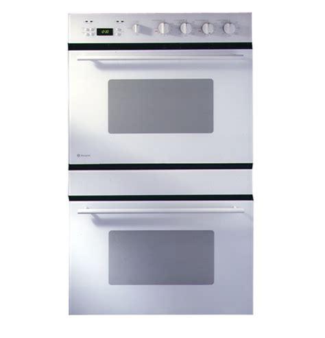 ge monogram  european design white double convection wall oven zetwbww ge appliances