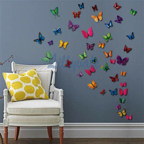 pcs  butterfly wall stickers art decal home room