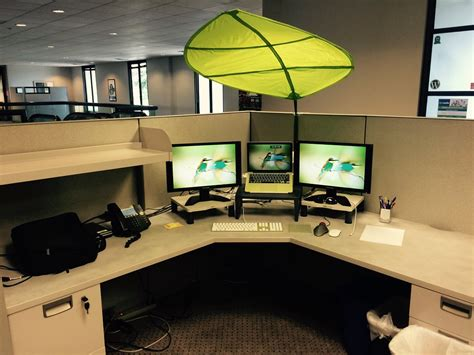 Office Desk Umbrella by My Office Desk With Ikea Leaf Shade Daniel M Hendricks