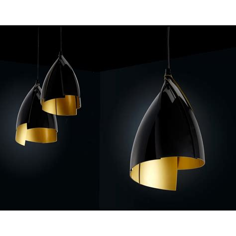 modern black gold layered ceiling pendant lighting and