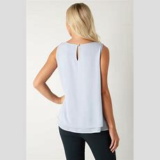 Double Layer Wrap Top In Silver  Roman Originals Uk