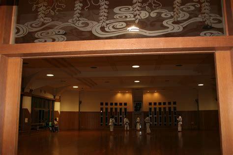 ryukonkai dojo stained glass  entrance dojo ideas