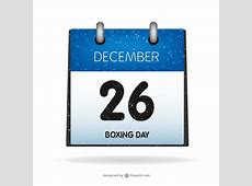 Boxing Day on calendar Vector Free Download