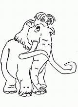 Coloring Ice Age Mammoth Peaches Colouring Clipart Printable Era Cartoon Template Sloth Sid Sheets Elephant Desenhos Gelo Sketch Adult Momjunction sketch template