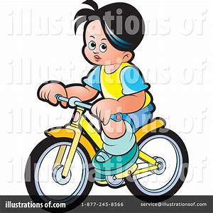 Boy On Bicycle Clipart - Clipart Suggest